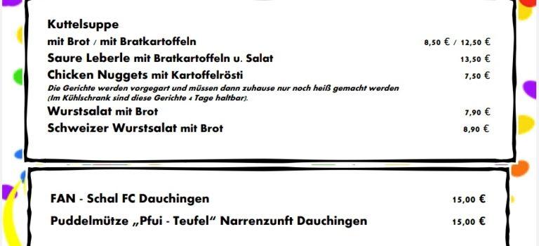 """Fasnets- Essen """"to go"""" vom Gasthaus Germania"""